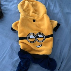 Minion dog outfit.
